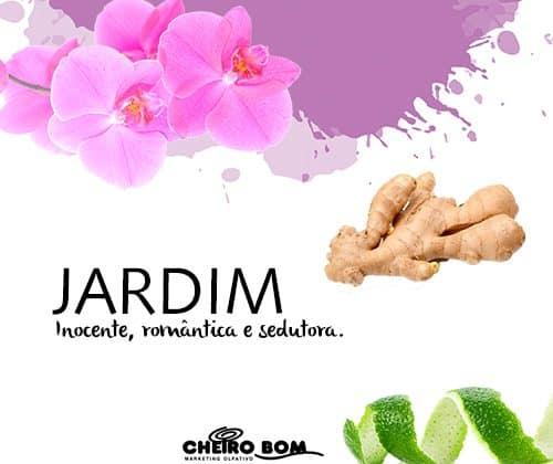 JARDIM - A fragrância Jardim notas frescas de lima e cardamomo